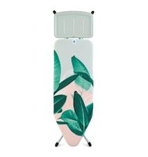 Strykbord Stl C med Solid Ångstationshållare Tropical Leaves