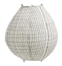 Fabric Lampskärm i Tyg Svart/Vit Ø35cm