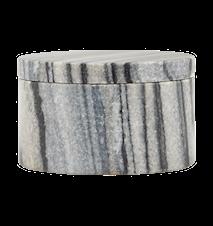 Förvaringsburk Marble Ø 10x6 cm - Grå