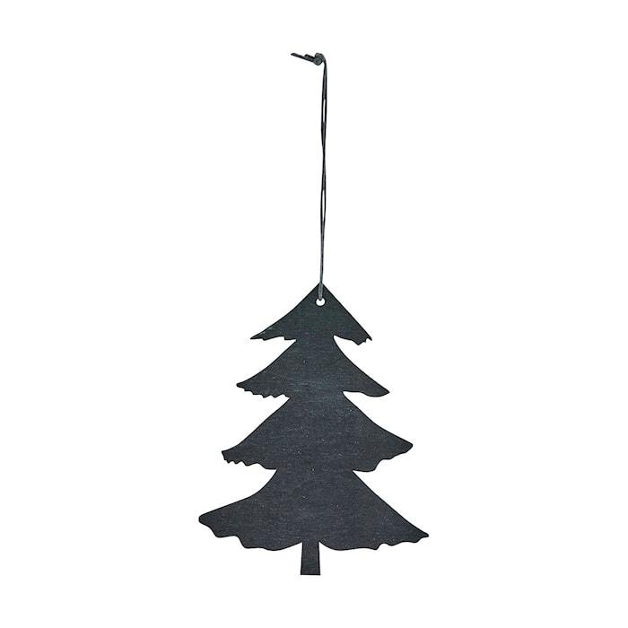 Ornament Pine 12 cm Svart