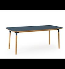 Form Bord Blå/Eik 95x200 cm