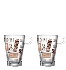 La Vita Glas Latte Macchiato 2-pack