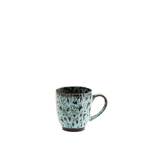 Krus Ø 9,8 cm - Grøn/sort