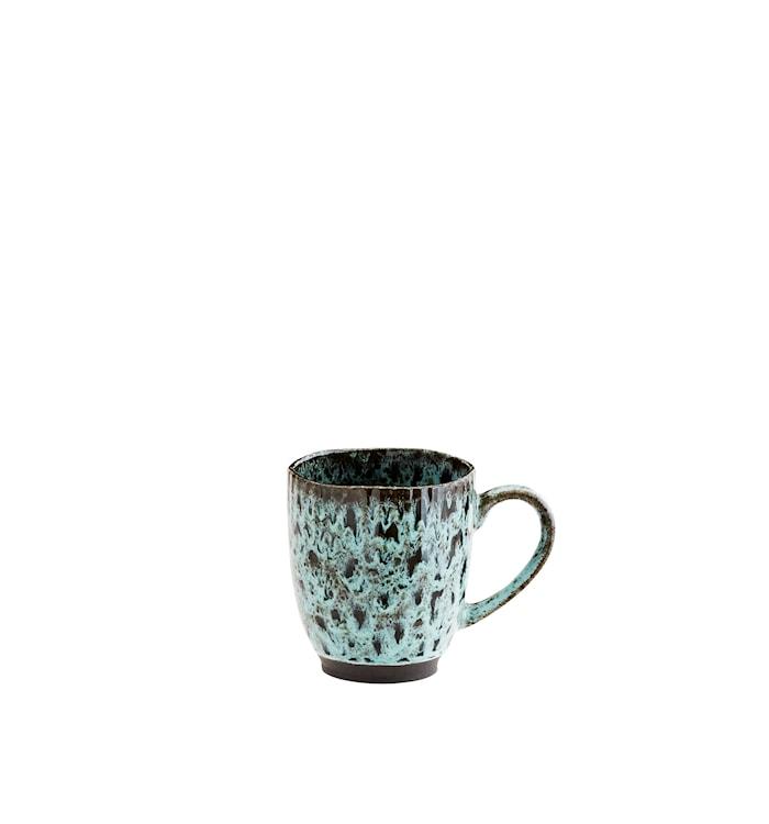 Mugg Ø 9,8 cm Grön/svart