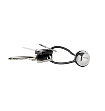 My nyckelring, stål - svart