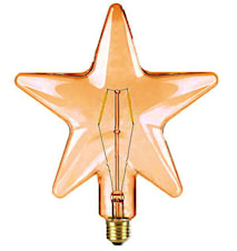 Shaped LED Filament Gold Star 210mm