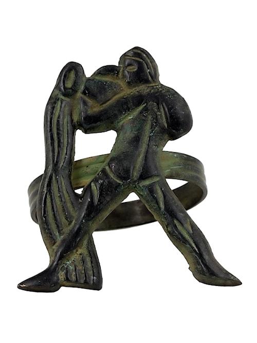 Stjärntecken Vattuman, brons, servettring