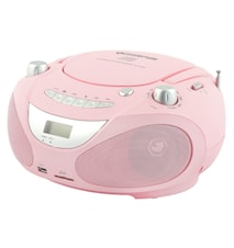 Champion Boombox CD/Radio/MP3/USB Pink