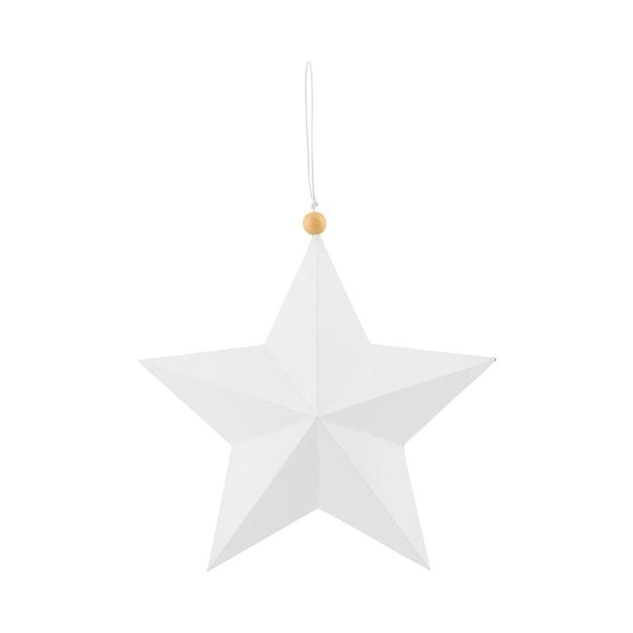 Ornament Star 20 cm Vit