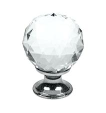 Knopp Diamond glas/Krom - 4 cm