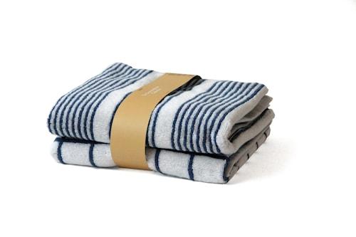 Handduk Lanes/Tiles 2-pack 38x60 cm