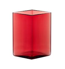 Ruutu vase 115x140 mm Tranebær