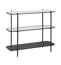 Konsolbord Järn med Marmor/Glas Svart 82x100cm