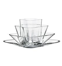 Aalto Vase blomst klar 4-deler