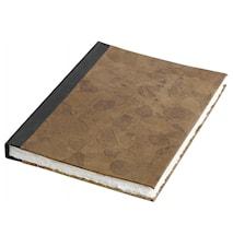 Notebook, leaves, leather, medium