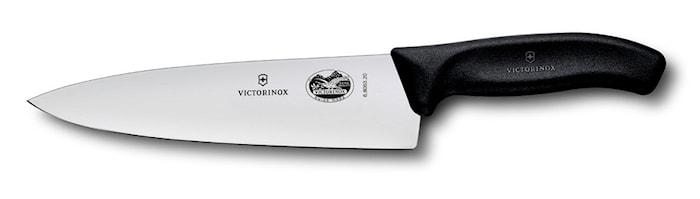 Stekkniv, 20 cm, svart plasthåndtak