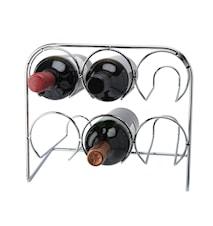 Wine rack 6 bottles Chromium 29x25,5x19cm
