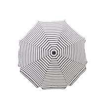 Oktogon Parasol 180cm - Sort/Hvid