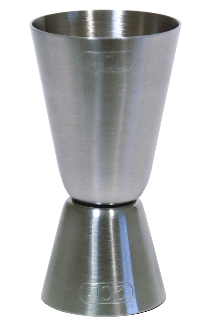 Mätglas i rostfritt vändbart 2-4 cl