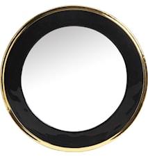 Blanka spegel Svart/guld 50cm
