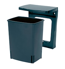 Rubbish bin, rectangular [incl. wall fastening] 10L Black