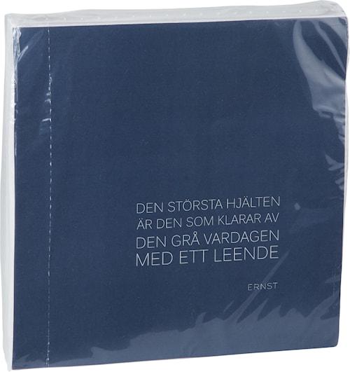 Serviett Sitat 40x40, blå