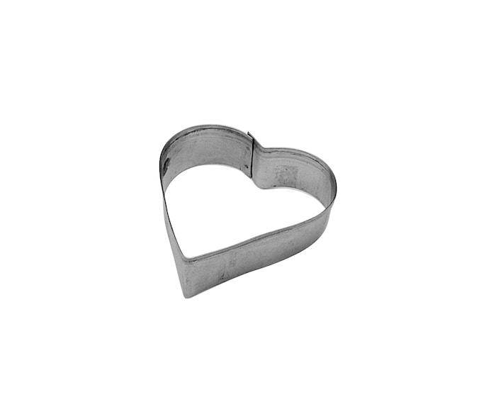 Leivosmuotti teräs 8 cm sydän
