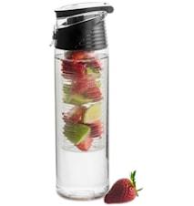 Fresh flaska med fruktkolv, låsbar, svart