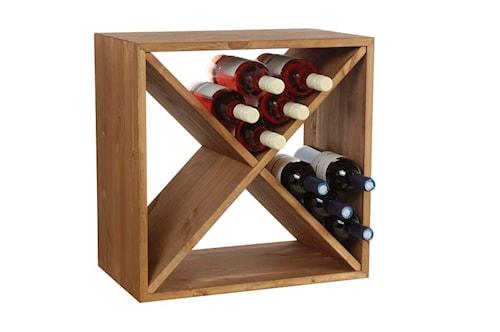 Wine Cube Viinipulloteline 24 pullolle Tumma Tammi