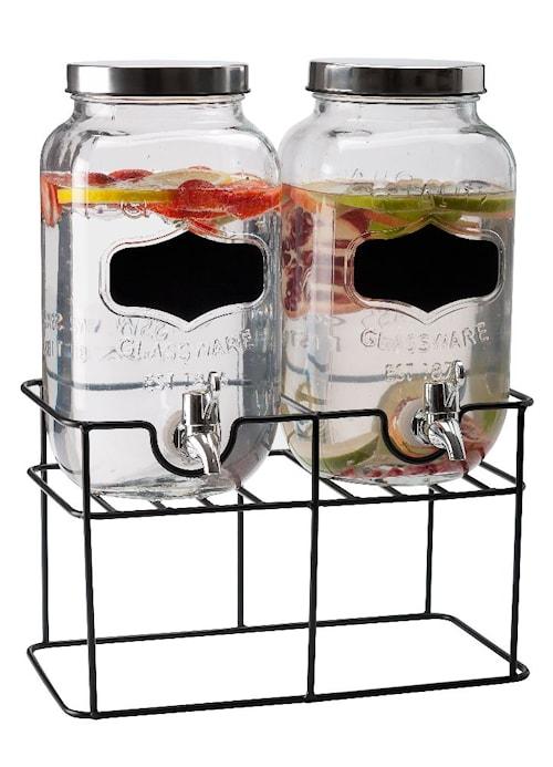 Dryckesdispenser med tappkran dubbel 3,3 Liter