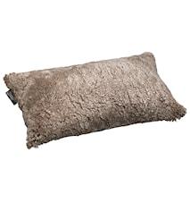 Ace Small Kudde fårskinn/ulltyg 30x50 - Cork/Black