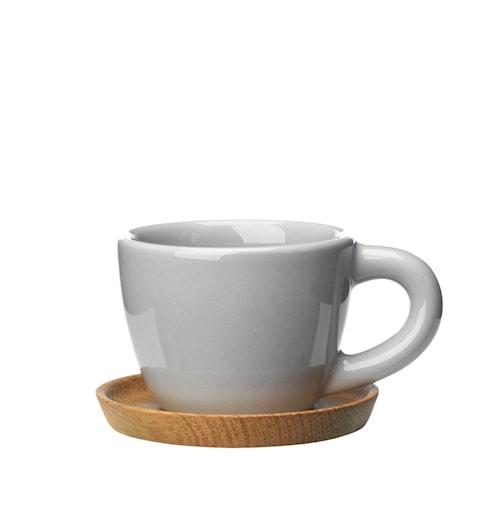 Höganäs Keramikk Espressokopp + trefat 10 cl grå blank