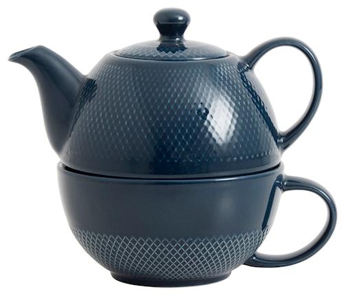"Tekanna ""Tea for one"" Ø 12 cm - Blå"