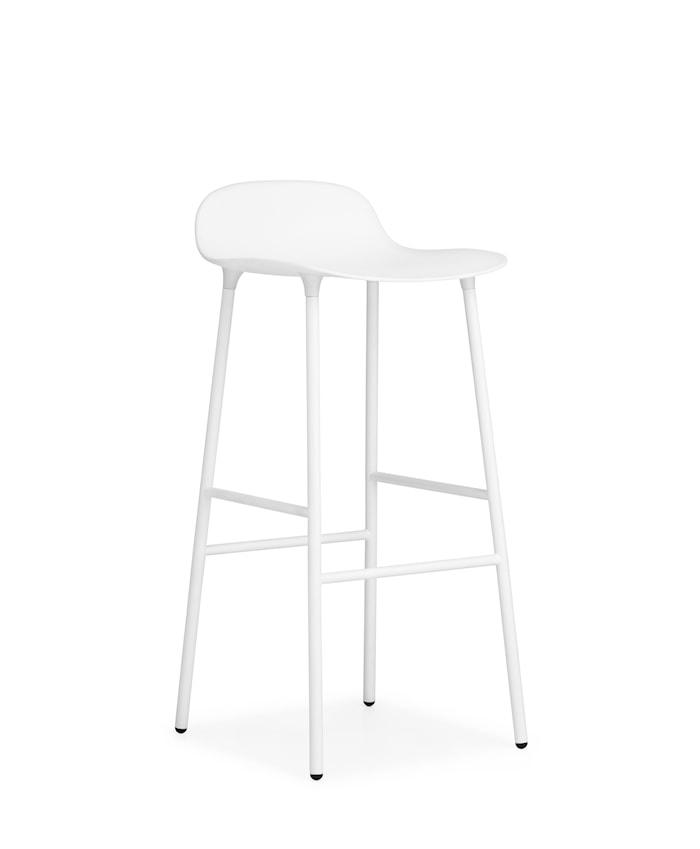 Form Barstol Hvit 75 cm