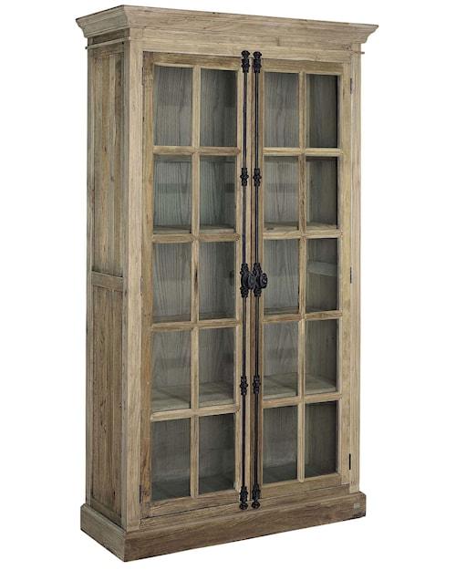 Elmwood cabinet vitrinskåp - Brun