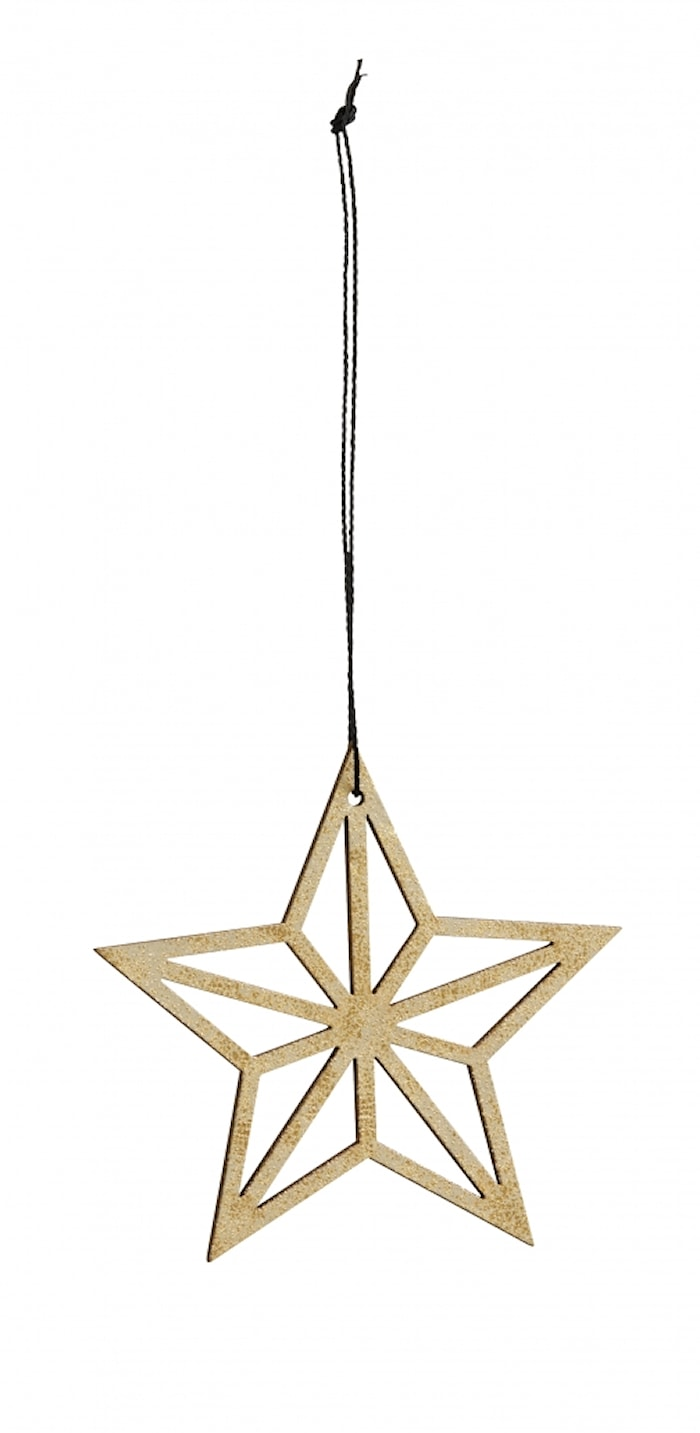 Christmas hanger, star, gold