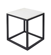 Cube Sidobord Small Marmor - Svart