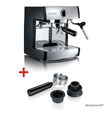 Espressomaskin Pivalla + Nespresso