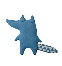 Neulottu Kettu Sininen Puuvilla 34 cm