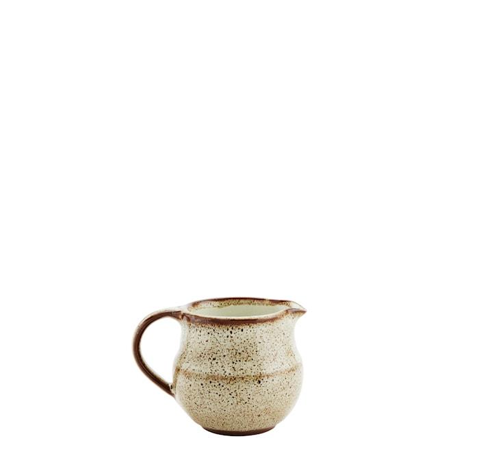 Mugge Ø 9 cm - Offwhite/Brun