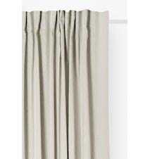 Gardin med foldebånd Sunshine 140x290 cm Chalk