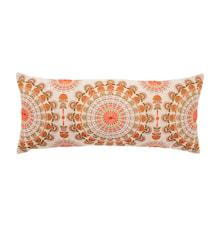 Dahlia Vit/Orange Bomull 80x35cm