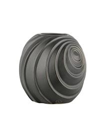 Vas Swirl H16 cm Svart