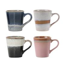 70's Keramik Espressokoppar set of 4