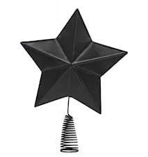 Metal Christmas star for tree, black