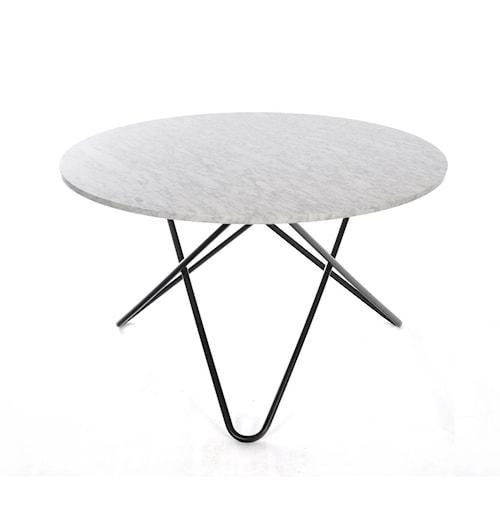 Big O table spisebord - Carrara/black