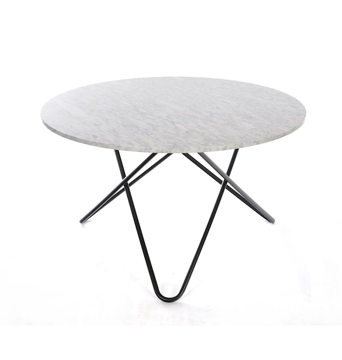 Big O table spisebord - Carrara/black