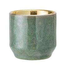 Lysholder Stone Green Ø6xH6 cm