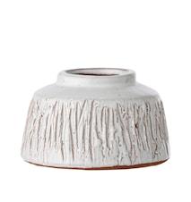 Vase Terrakotte Ø 11 cm - Hvid