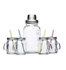 Cocktail Kit med Glas och Shaker 5 delar